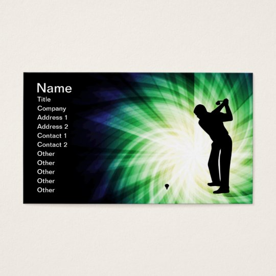 Cool Green Golf Business Card