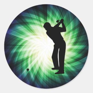 Cool Green Golf Round Sticker