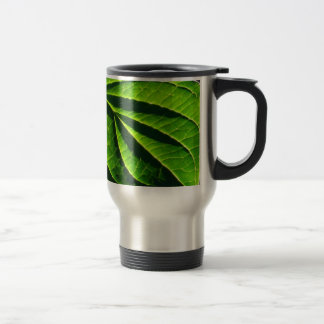 Cool green leaf coffee mugs