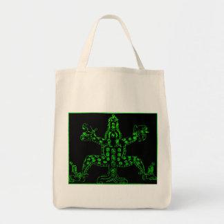 Cool Green Mayan Animal Canvas Bag