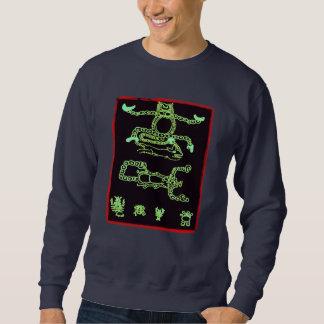 Cool Green Mayan Design Sweatshirt