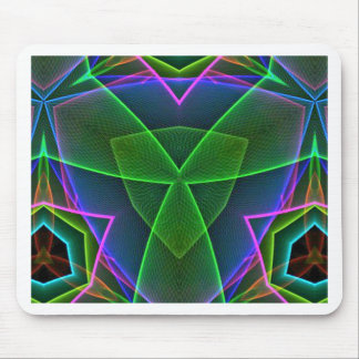 Cool Green Pink Purple Neon Abstract Design Mouse Pad