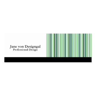 Cool Green Stripes Business Cards