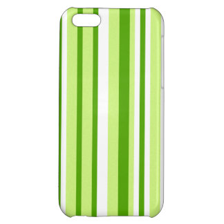 Cool Green Stripes; Striped Cover For iPhone 5C