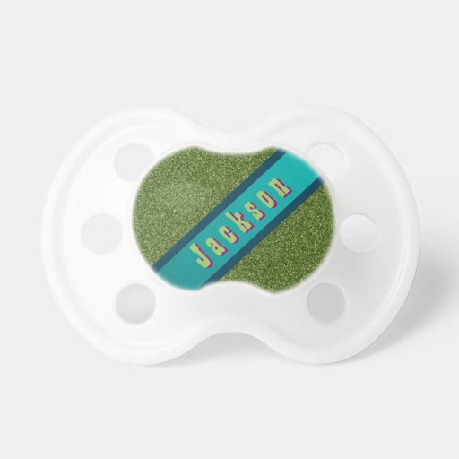 Cool Green & Turquoise Designer Custom Paciifier Pacifiers
