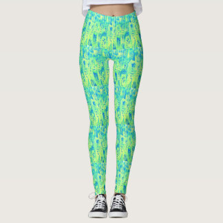cool greens leggings