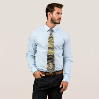 Cool Grey Beach stone wall texture Men Tie