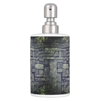 Cool grey beach stones textured design bathroom set