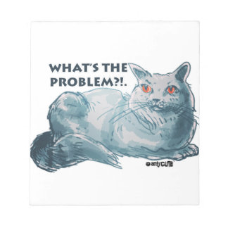 cool grey cat illustration with text scratch pads