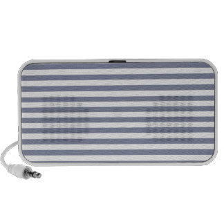 Cool Grey Horizontal Stripes; Striped Travelling Speakers