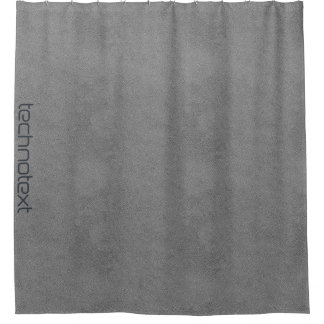cool grey leather industrial loft look shower curtain