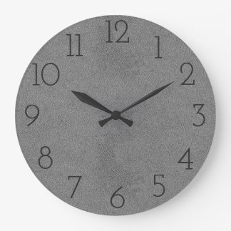 Cool Grey Leather Wear Wall  Clock