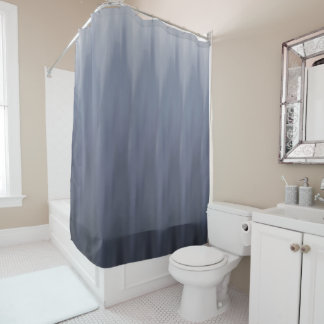 Cool Grey Ombre Wave Shower Curtain