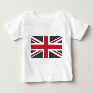 Cool Grey Red Union Jack British(UK) Flag Baby T-Shirt