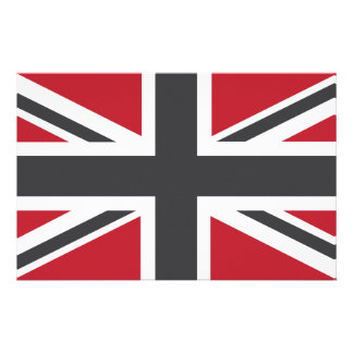Cool Grey Red Union Jack British(UK) Flag Customised Stationery