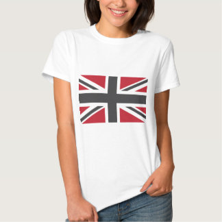 Cool Grey Red Union Jack British(UK) Flag Tee Shirt