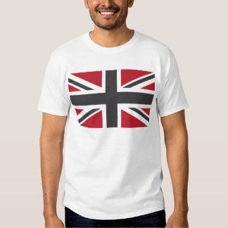 Cool Grey Red Union Jack British(UK) Flag Tshirt