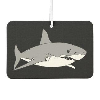 cool grey shark car air freshener