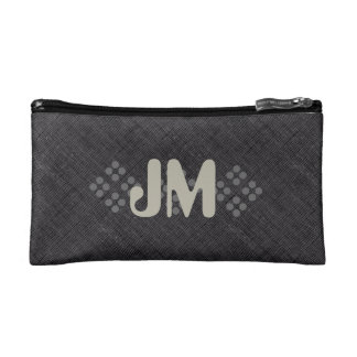 Cool Grey Textured Add Initials Bag