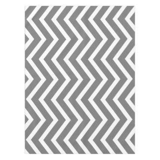Cool grey white Chevron  tablecloth