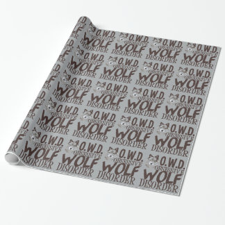 Cool Grey Wolf Wrapping Paper