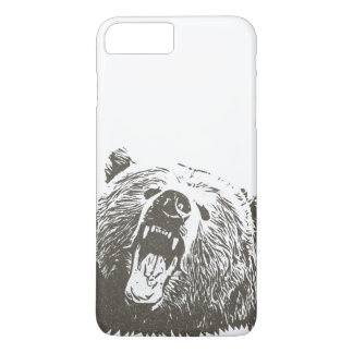 Cool Grizzly Bear Roar Hand Drawn iPhone 7 Plus Case