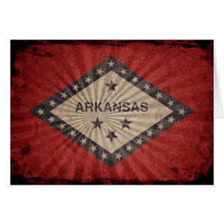 Cool Grunge Arkansas Flag Note Card
