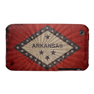 Cool Grunge Arkansas Flag Case-Mate iPhone 3 Cases