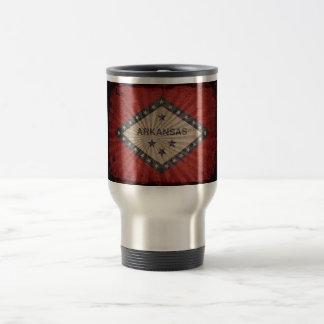 Cool Grunge Arkansas Flag Stainless Steel Travel Mug