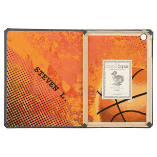 Cool Grunge Basketball Abstract Art Personalized iPad Air Covers