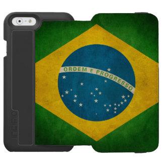 Cool Grunge Brazil Flag Bandeira do Brasil Incipio Watson™ iPhone 6 Wallet Case