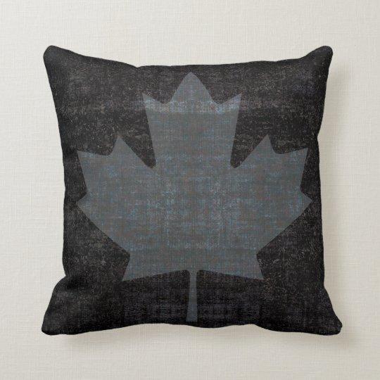 cool grunge Canadian maple leaf flag Cushion