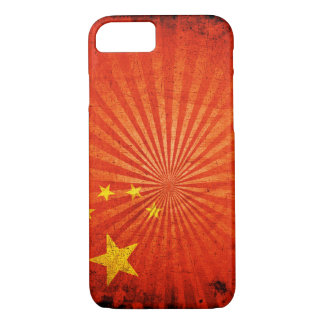 Cool Grunge Chinese Flag iPhone 7 Case