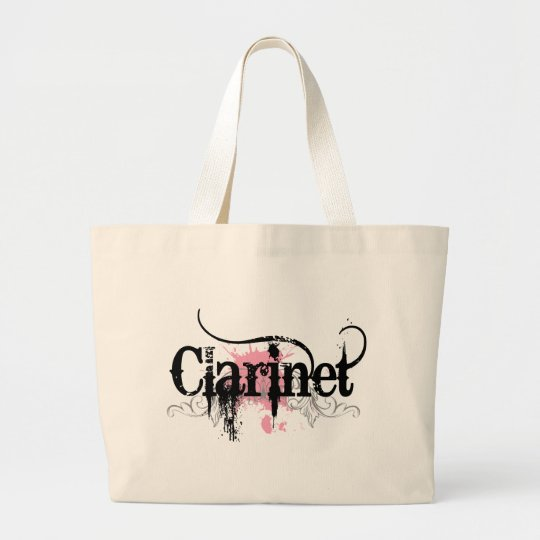 Cool Grunge Clarinet Gift Large Tote Bag