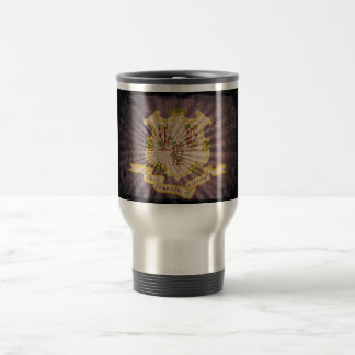 Cool Grunge Connecticut Flag 15 Oz Stainless Steel Travel Mug