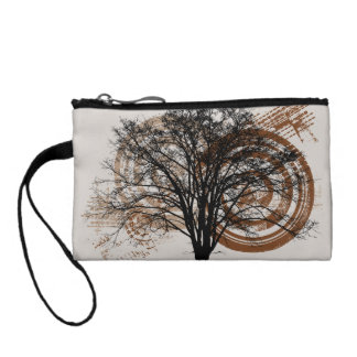 Cool Grunge Eco-Pro-Environment Tree Silhouette Coin Purses