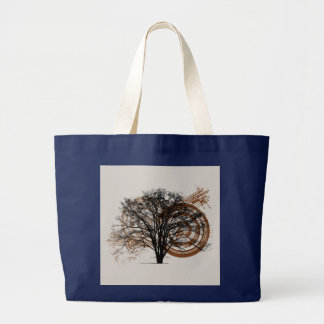 Cool Grunge Eco-Pro-Environment Tree Silhouette Bags