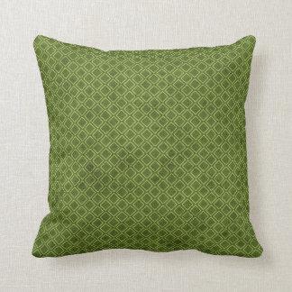 Cool Grunge Green Geometric Diamond Argyle Pattern Cushion