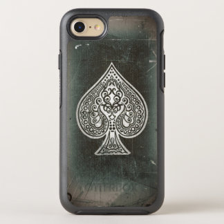 Cool Grunge Hip Retro Artistic Poker Ace Of Spades OtterBox Symmetry iPhone 7 Case