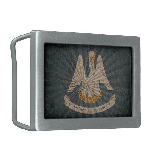 Cool Grunge Louisiana Flag Belt Buckle