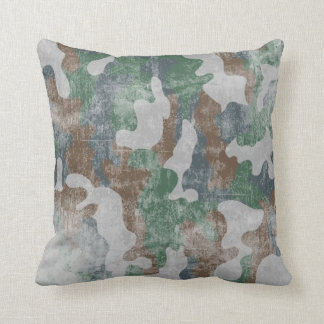 Cool Grunge Military Camouflage Pattern Cushion