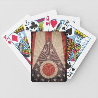 Cool Grunge Ohio Flag Bicycle Playing Cards