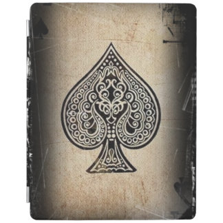 Cool Grunge Retro Artistic Poker Ace Of Spades iPad Cover