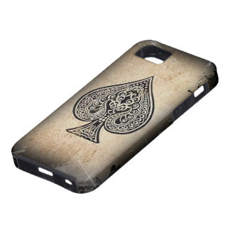 Cool Grunge Retro Artistic Poker Ace Of Spades iPhone 5 Case