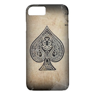 Cool Grunge Retro Artistic Poker Ace Of Spades iPhone 8/7 Case
