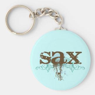 Cool Grunge Saxophone Key Ring