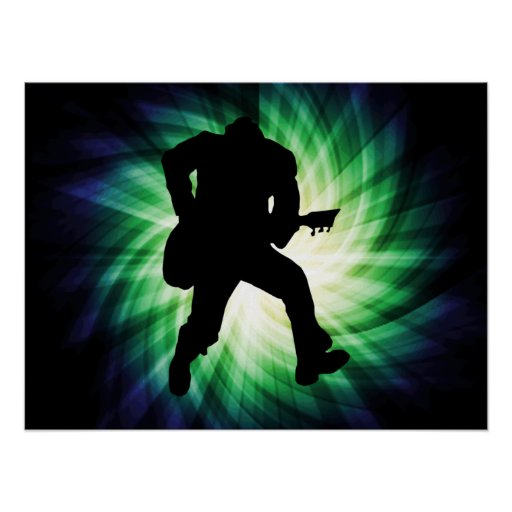 Cool Guitar Player Print