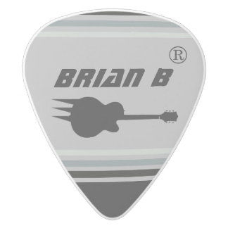cool guitarman name personalized rock white delrin guitar pick