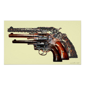 Cool guns photography poster