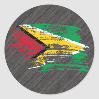 Cool Guyanese flag design Classic Round Sticker
